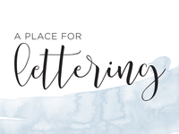 A Place for Lettering