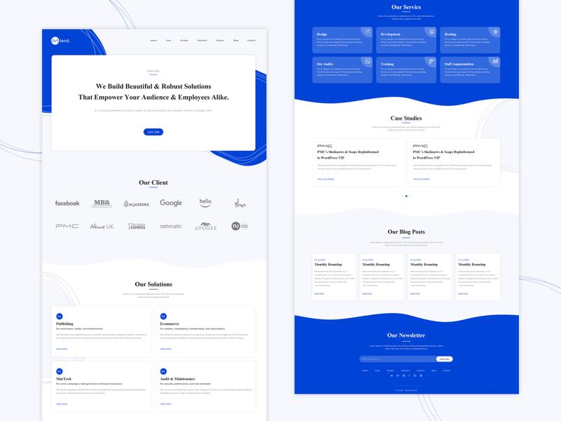Creative Agency vector design ui branding web