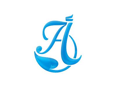 أ A logo typography calligraphic arabic
