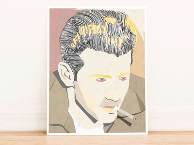 The Rebel Print (James Dean) celebrities stars hollywood poster illustration james dean