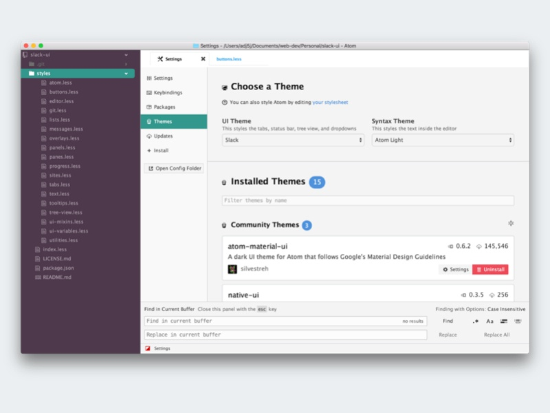 Slack UI Theme by Tony Jones on Dribbble