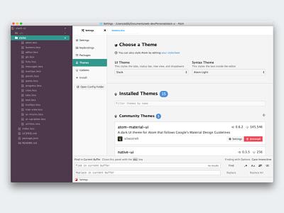 Slack UI Theme github code text editor text atom theme ui slack