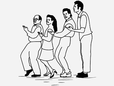 Seinfeld drawing illustration line art jerry seinfeld tv seinfeld ink sketch art line