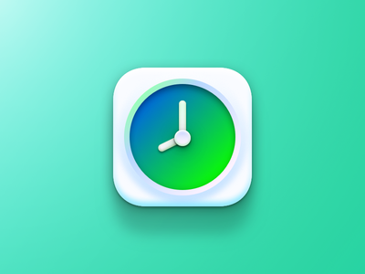 Clock Icon tutorial watch time clock green iphone ios sketch app icon design