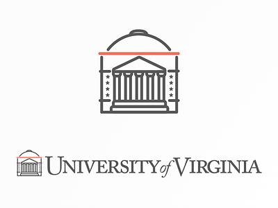 University of Virginia Rotunda Logo mark symbol shift illustration brand logotype icon columns rotunda uva logo