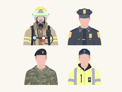 Uniforms police soldier cop firefighter uniforms