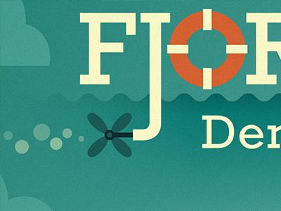 Fjordens Dag 2011 typography type font rockwell buoy propeller bubbles waves clouds orange blue turquoise fjordens dag 2011