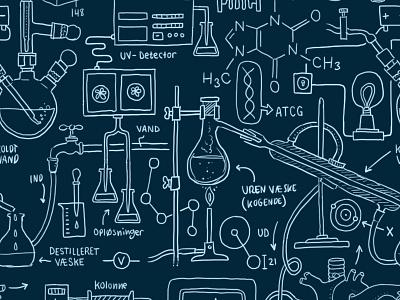 Science Pattern [download] pattern science download freebie tech technology research