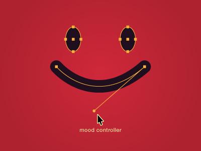 Mood Controller mood controller path anchor vector handle cursor arrow red face mouth smiley eyes anchor points