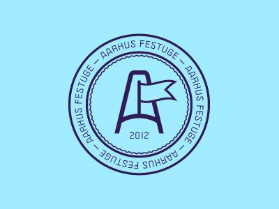 ARHUS FESTUGE 2012 aarhus festuge 2012 a flag logo symbol politica simple minimalism minimalistic line vector blue hill