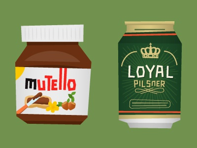 Mutello Loyal products nuts crown food drink candy mutello loyal nutella beer chocolate cream can packaging label labels vector edgy skew skewed alcohol beverage