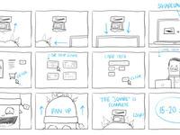 Squarespace beanie storyboard