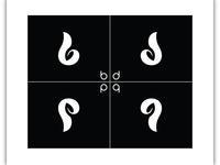 a b p q Letter Logo
