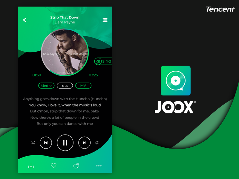 Joox free music streaming app redesign by harry manaiki dribbble final stopboris Images