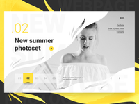 Concept webpage for photographer