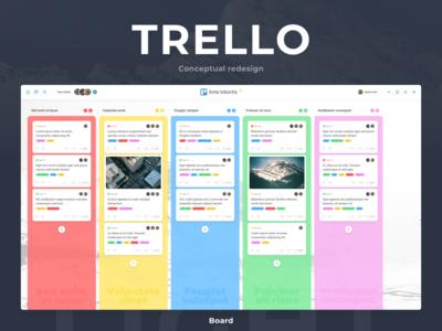 Trello. Conceptual redesign. Light. Board.