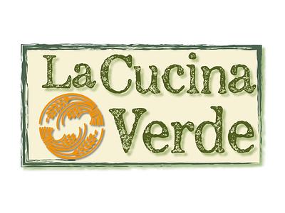 La Cucina Verde vector design branding logotype logo graphics graphic design