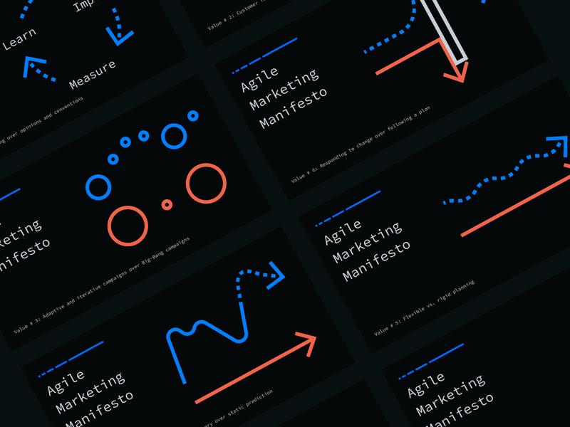 Agile Marketing Manifesto Refresh web design dark mode illustration web website