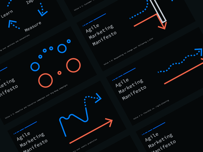 Agile Marketing Manifesto Refresh agile web design dark mode illustration web website