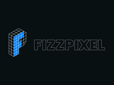 Fizzpixel v2 isometric illustration logo isometric