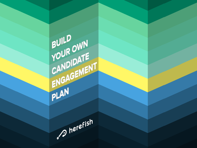 Candidate Engagement Plan Cover zig zag 3d branding cover