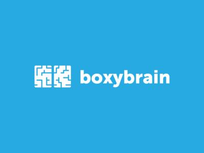 Boxy Brain box brain illustration logo