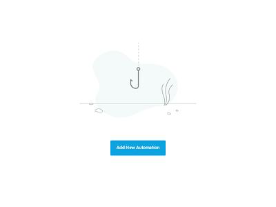 Empty State Screens minimal message in a bottle hook shark undersea empty state