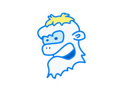 Shreddy Yeddy face character illustration yeti