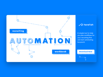 Recruiting Automation Workbook cover automate automation web ebook cover ebook illustration