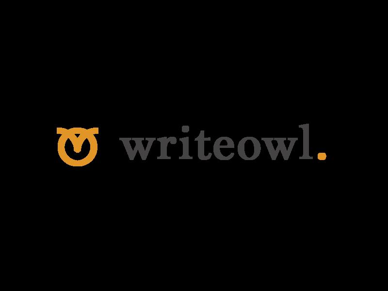 Writeowl branding illustration logotype serif owl logo