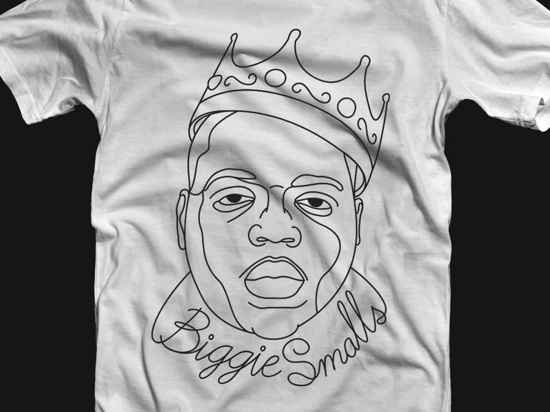TOAO Biggie Smalls T-shirt graphic design biggie smalls t-shirt clothing label webshop illustration
