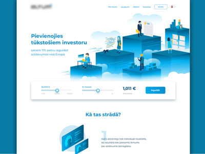 Finance web and illustration