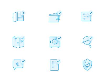 Stylish web icons for marine company