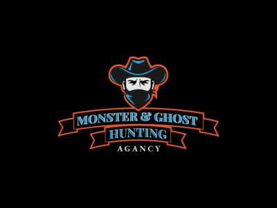 Halloween themed logo for ghost hunters