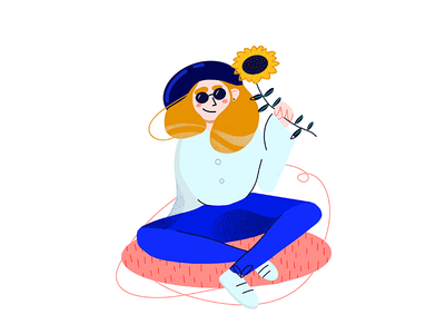 8 March procreate girl drawing character design flat illustration woman 8 march