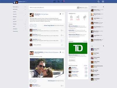 Playing with Facebook UI ui design facebook