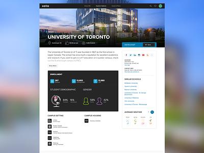 University Profile productdesign design sketch xello ux ui