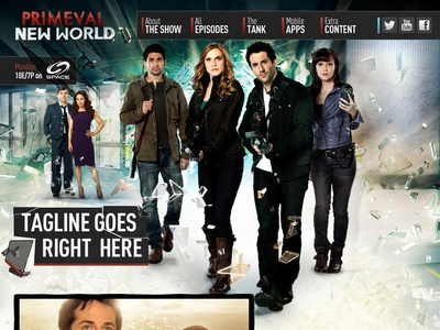 Primeval New World art direction photoshop ux