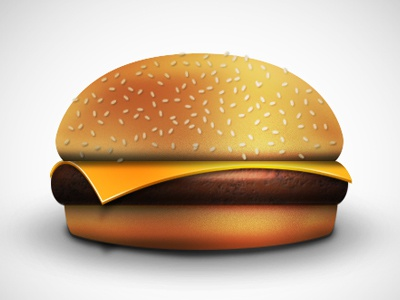 First Icon Ever. Burger icon photoshop