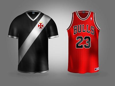 Vasco and Bulls... chicago nba bulls vasco rio de janeiro brazil jersey camisa icon photoshop
