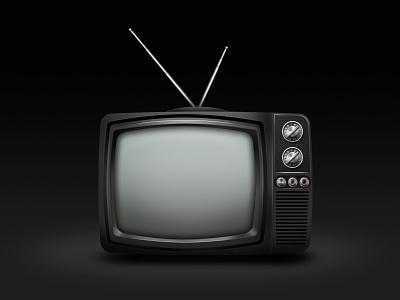 Old TV tv icon photoshop
