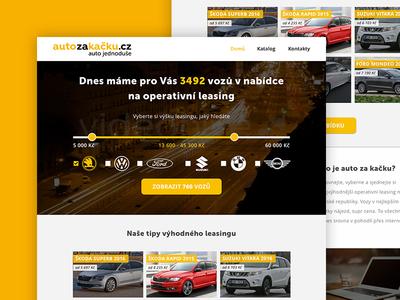 Auto za kačku - Homepage homepage adobe xd user experience ui user interface operational leasing leasing auto car
