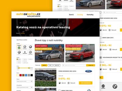 Auto za kačku - Category category adobe xd user experience ui user interface operational leasing leasing auto car