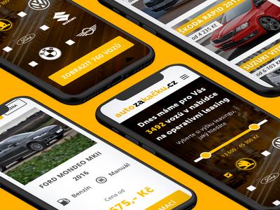 Auto za kačku - Mobile car auto leasing operational leasing user interface ui user experience adobe xd mobile
