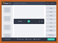 Newsletter builder - Drag and drop - Wireframes