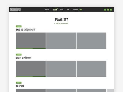 Samosebou - Videos - WF - Playlist page playlist user interface user experience adobe xd xd wire frame videos video samosebou