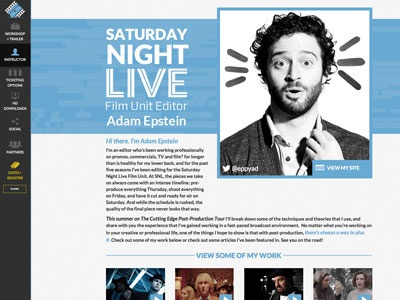 The Cutting Edge Post-Production Tour with Adam Epstein brand logo blue black art direction creative direction film editing digital snl saturday night live