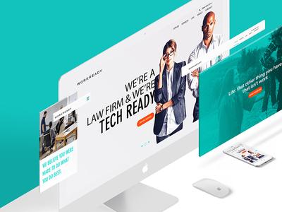 Workready Dribbble responsive ux ui website mobile logo identity brand