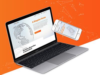 Clairvolex Website design corporate layout grid print digital responsive website brand logo