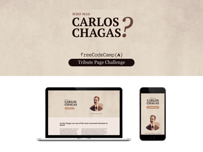 Carlos Chagas - Tribute Page - FreeCodeCamp newspapers paper texture tribute challenge landingpage freecodecamp